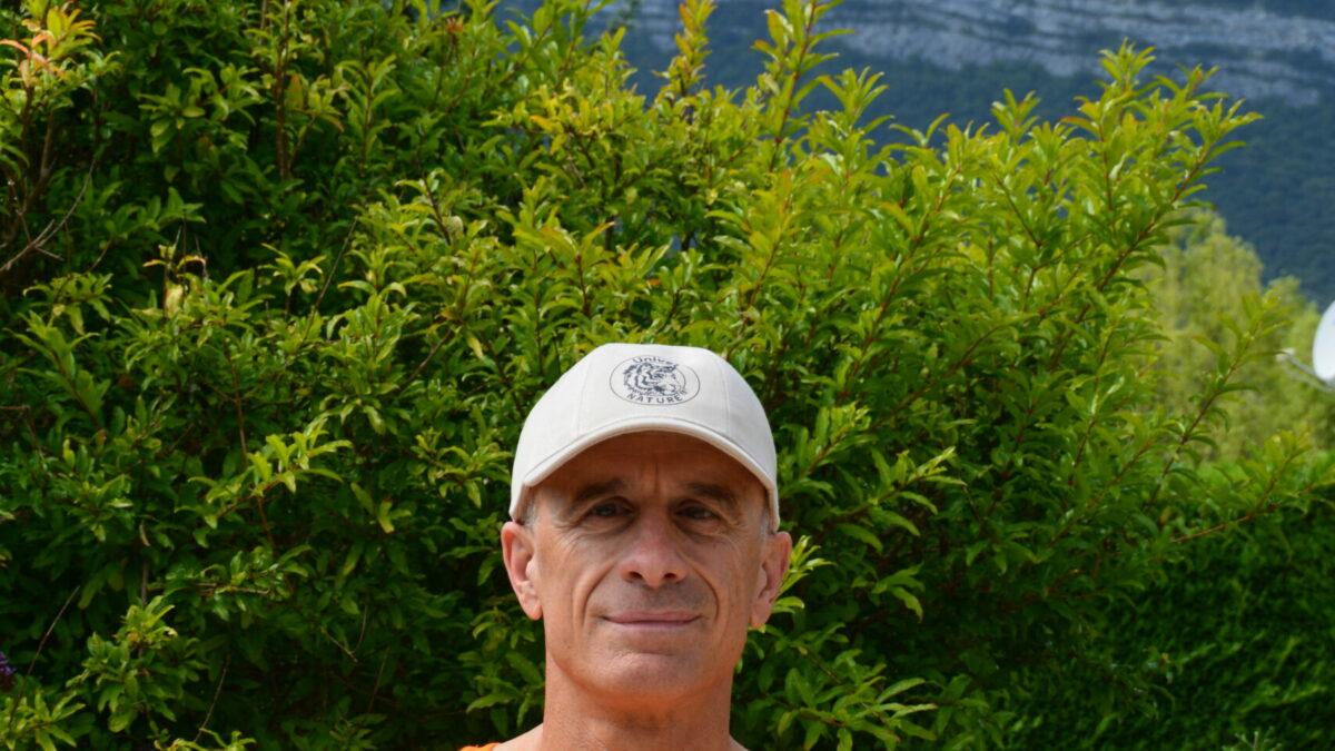 Luc Jacquier aux couleurs d'Univet Nature pour le championnat du monde de Triathlon d'Amsterdam